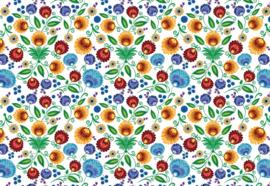 Fotobehang Vintage bloemenpatroon