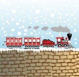 Dutch Digiwalls Fotobehang - Olly art. 13010 Snow Train