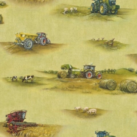 Behang Rasch Kids & Teens || 293203 tractors