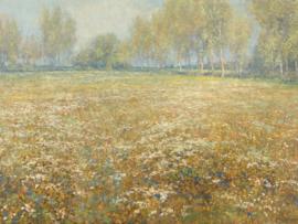 Canvasdoek Bloeiende weide, Egbert Rubertus Derk Schaap, 1913