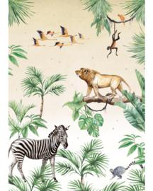 Creative Lab Amsterdam King Of The Jungle 200cm x 280cm hoog
