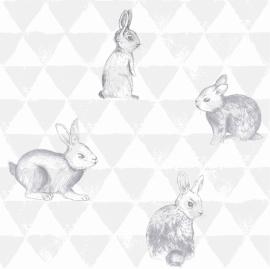 Behang Onszelf Smile - OZ 3269 konijntjes