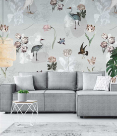 Floral Utopia INK7587 fotobehang afm. 200cm breed x 280cm hoog
