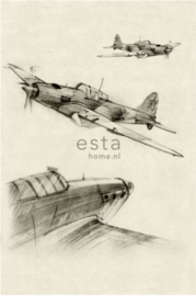 Esta photowall XL2 for kids 158805 Aeroplane sketches