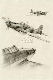Esta photowall XL2 for kids 158805 Aeroplane sketches