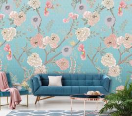 Floral Utopia INK7562 fotobehang afm. 200cm breed x 280cm hoog