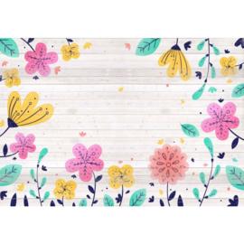 Fotobehang Happy Floral