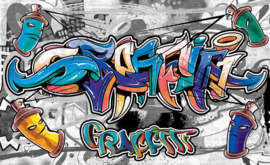 Fotobehang Graffiti Streetart
