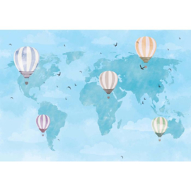 Fotobehang  Ballooning Around the World
