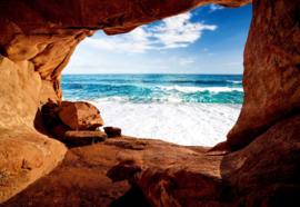 Fotobehang Beach Cave
