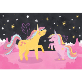 Fotobehang Ula la Unicornio & Lola under the Stars