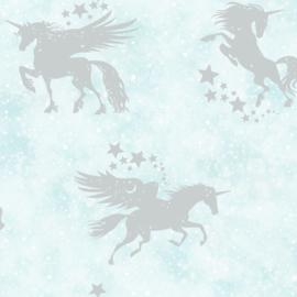 Over the Rainbow 90950 Iridescent Unicorns Teal Silver