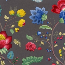 Eijffinger Pip Studio behang 341038 Floral Fantasy Dark Grey