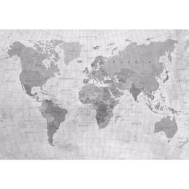 Fotobehang Wereldkaart Monochrome