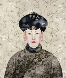 Khrôma Kimono DGKIM101 Miwa Mist behangposter 127cm breed x 150cm hoog