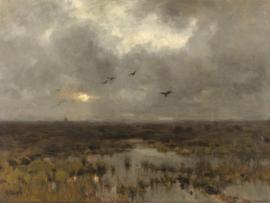 Canvasdoek Het moeras, Anton Mauve, ca. 1885 - ca. 1888