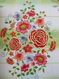 Eijffinger Pip Studio behang  386107 Embroidery Groen
