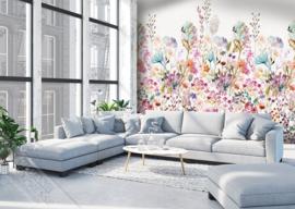 Colorful Florals&Retro fotobehang designed by INGK7280