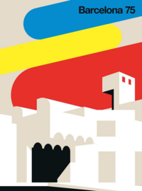 Fotowand Barcelona 75 by Bo Lundberg afm. 200cm x 270cm hoog