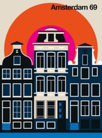 Fotowand Amsterdam 69 by Bo Lundberg afm. 200cm x 270cm hoog