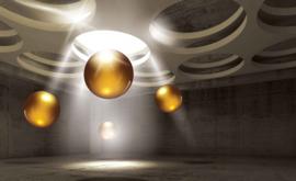Fotobehang Abstract Sphere in light