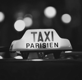 Fotobehang City Love CL23B Taxi Parisien