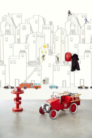 Eijffinger Wallpower Junior 364173 Firemen in the City