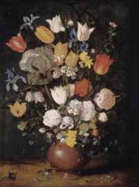 Dutch Painted Memories 8076 Bouquet of flowers in an earthenware vase
