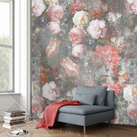 Colorful Florals&Retro fotobehang designed by INGK7282