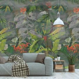 Colorful Florals&Retro fotobehang designed by INGK7320