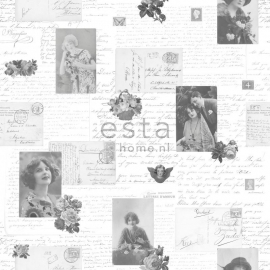 Behang Esta Home Pretty Nostalgic 138128 postcards