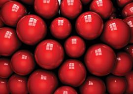 Fotobehang Red Balls