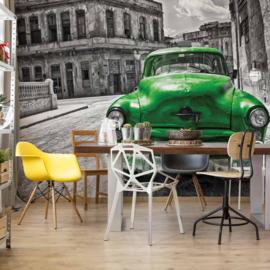 Fotobehang Vintage Car Cuba Havana