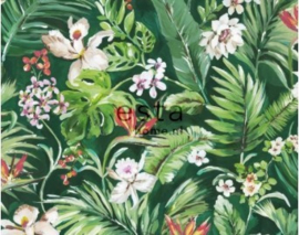 Esta Jungle Fever wallpaper XXL 158893 tropische bladeren en bloemen