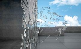 Fotobehang Glasscherven