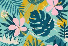 Fotowand Jungle plants 1 by Atelier 47 afm. 400cm x 270cm hoog