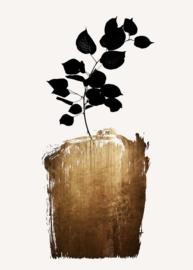 Fotowand Golden scabiosa by Kubistika afm. 200cm x 280cm hoog