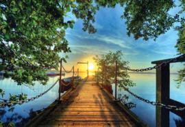 Fotobehang Lake Pier