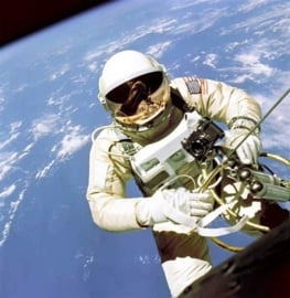 Evolution l  Fotobehang Working in Space 1078