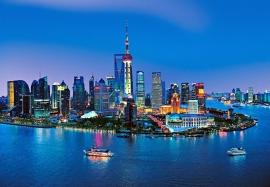Fotobehang Idealdecor 00135 Shanghai Skyline