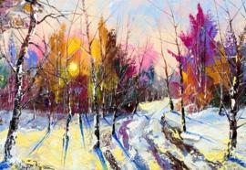 Fotobehang Modern Art Painting Winter