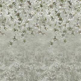 Designers Guild PDG1133/01 Assam Blossom Platinum 140cm x 300cm hoog