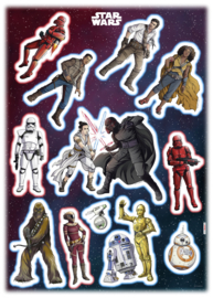Wandsticker Starwars Heroes Villains 14021