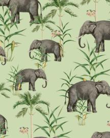 Creative Lab Amsterdam Oscar the Elephant Green 100cm x 280cm hoog