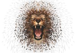 Fotobehang Polygon Lion