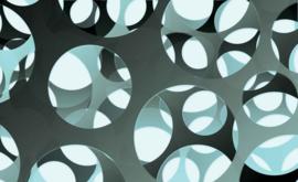 Fotobehang Blauwe en Grijze cirkels