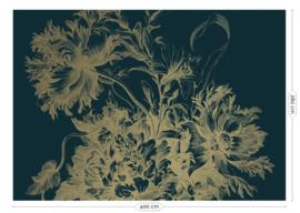 Kek Gold MW-015 Engraved Flowers 400cm breed x 280cm hoog