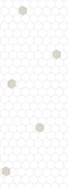 Bibelotte behang Honingraat wit-blauw 28043
