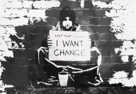 Fotobehang Banksy Graffiti