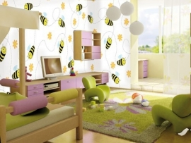 Little Ones fotobehang 416045 Free Bee